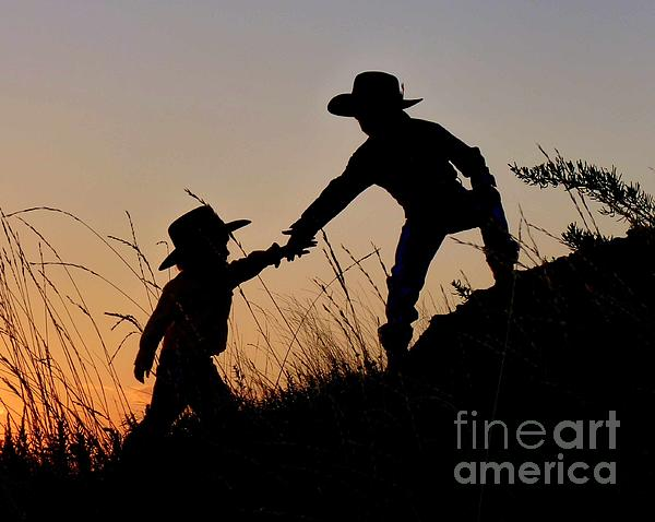 A Helping Hand Photograph  - A Helping Hand Fine Art Print