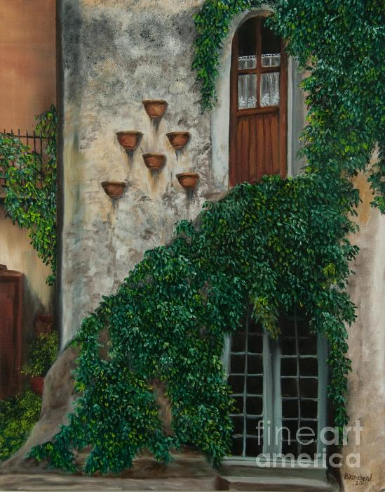 A House Of Vines Painting  - A House Of Vines Fine Art Print