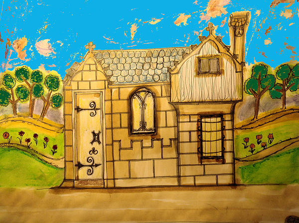 A House Similar To The One Where Launcelot Visited Guinevere... Painting