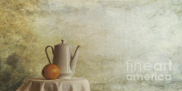 A Jugful Tea And A Orange Print by Priska Wettstein