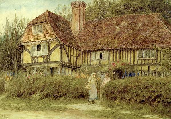 A Kentish Cottage Print by Helen Allingham