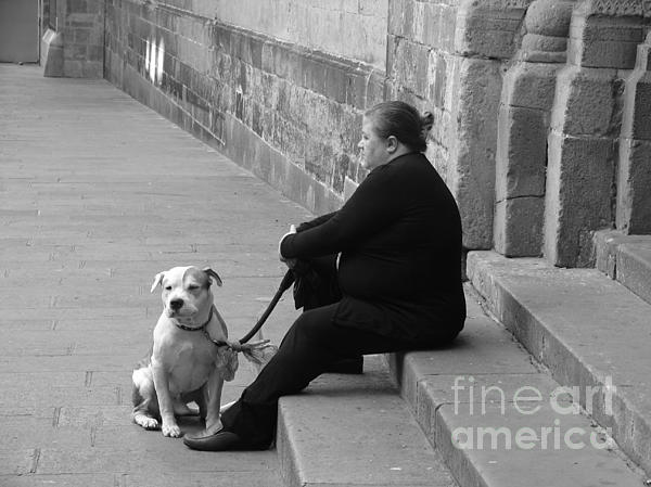 Ana Maria Edulescu - A Lady With Her Dog In Barcelona