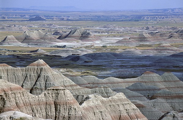 A Landscape Of The Badlands In South Print by Joel Sartore