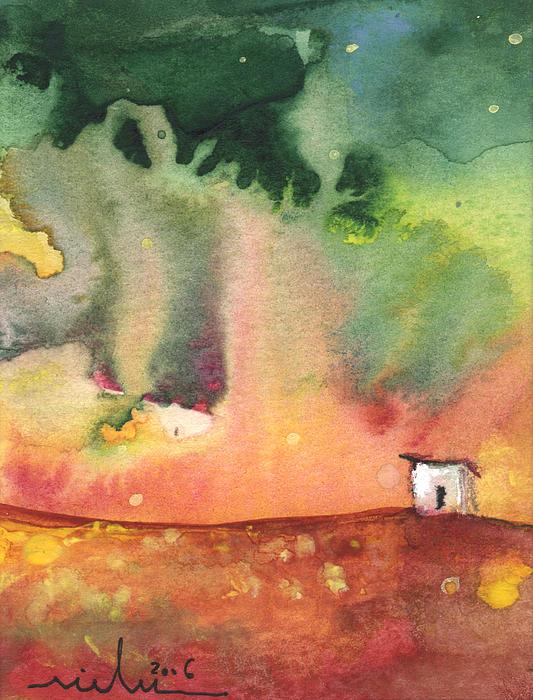 A Little House On Planet Goodaboom Print by Miki De Goodaboom