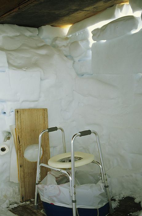 A Makeshift Bathroom Is Set Print by Gordon Wiltsie