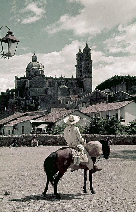 A Man On Horseback Looks At The Borda Print by Luis Marden