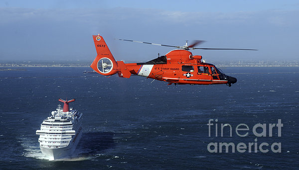 A Mh-65c Dolphin Helicopter Print by Stocktrek Images