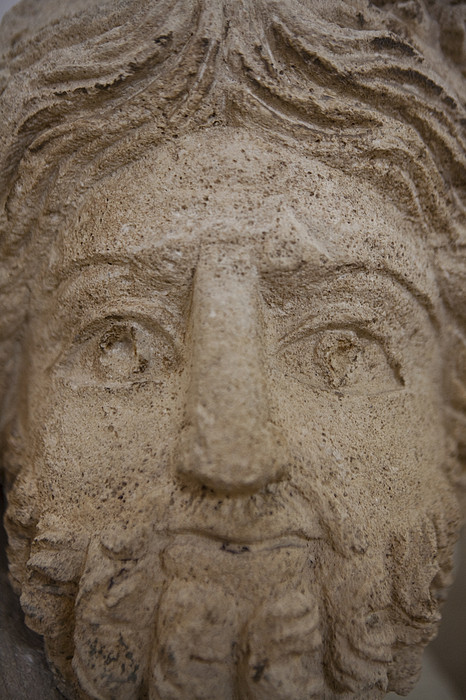 A Nabatean Bust Of Atargatis Print by Taylor S. Kennedy