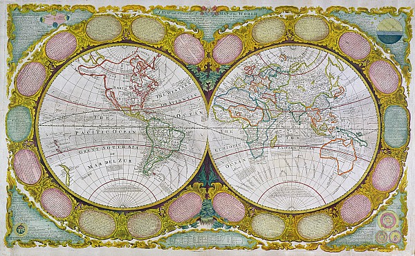 A New And Correct Map Of The World Print by Robert Wilkinson