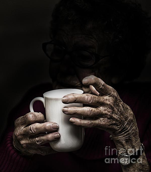 A Nice Cup Of Tea Print by Sheila Smart