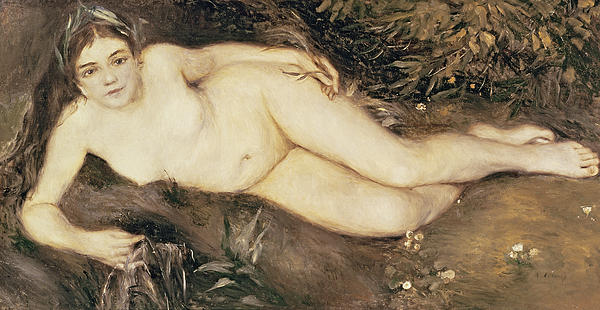 A Nymph By A Stream Print by Pierre Auguste Renoir