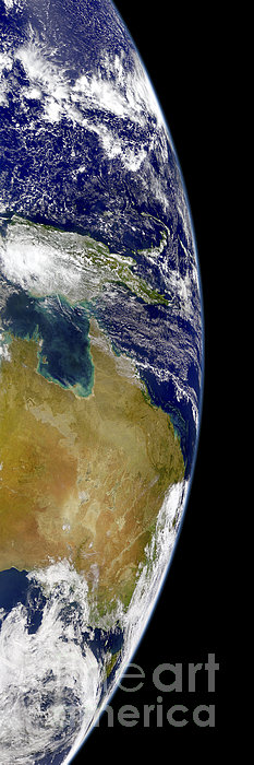 A Partial View Of Earth Showing Print by Stocktrek Images