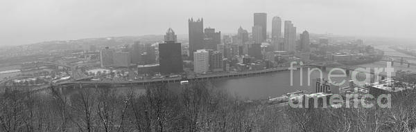 A Pittsburgh Winter Day Print by David Bearden