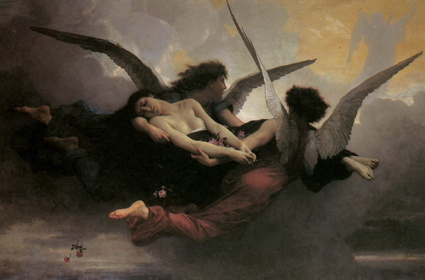 A Soul Brought To Heaven Print by Adolphe William Bouguereau