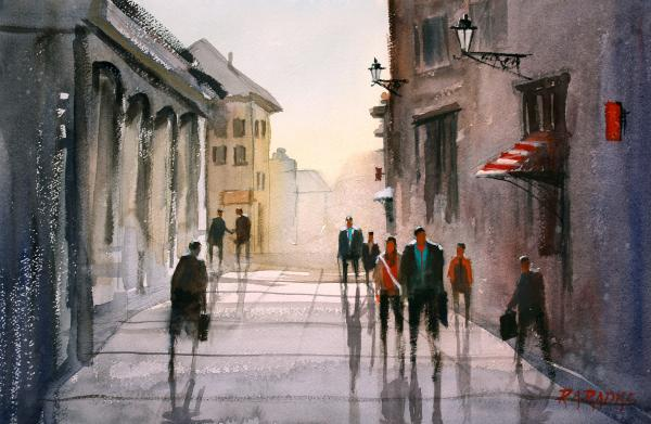A Stroll In Italy Print by Ryan Radke