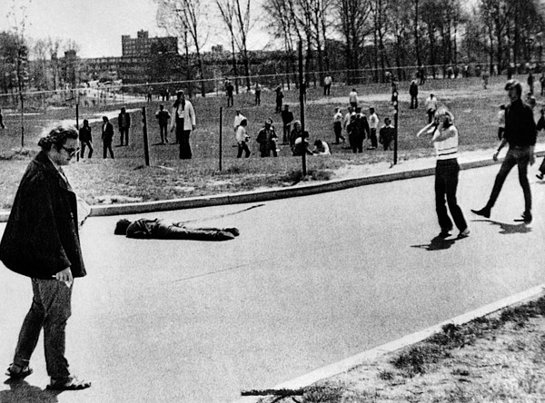 A Student Lies Dead At Kent State Print by Everett