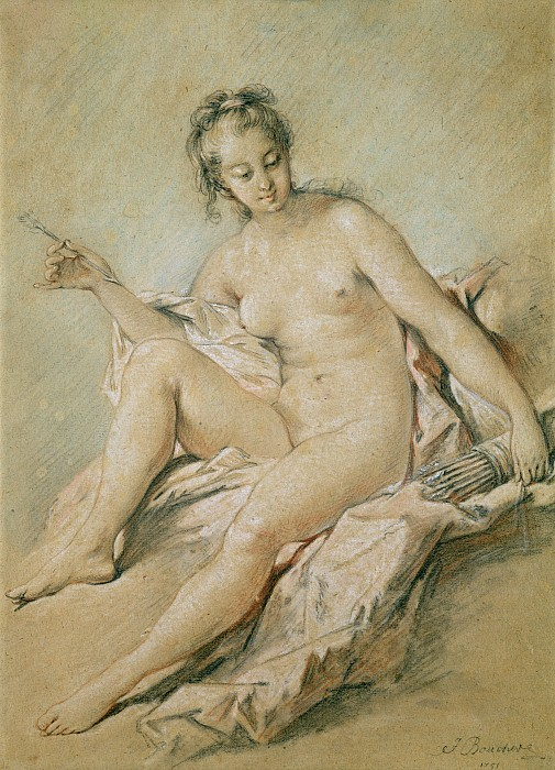A Study Of Venus Print by Francois Boucher