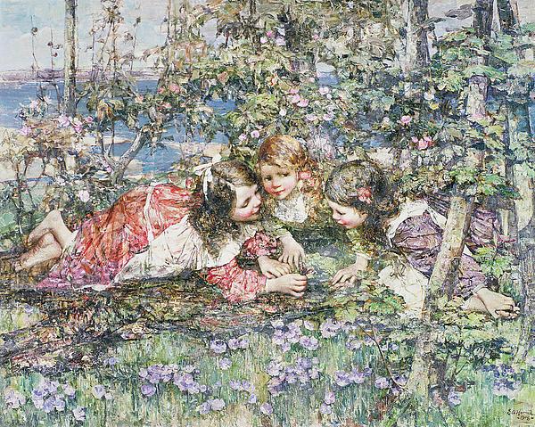 A Summer Idyll Print by Edward Atkinson Hornel
