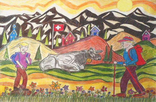 A Summers Trail Print by Monica Engeler