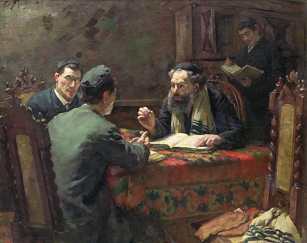 A Theological Debate Print by Eduard Frankfort