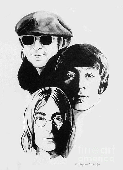 A Tribute To Lennon Print by Suzanne Schaefer