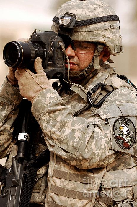 A U.s. Air Force Combat Cameraman Print by Stocktrek Images