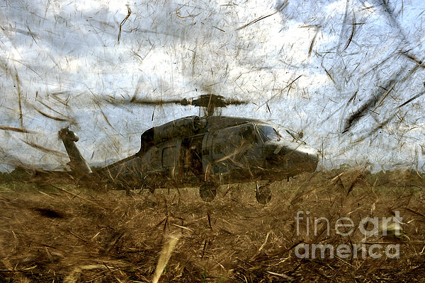 A U.s. Navy Hh-60 Seahawk Stirs Print by Stocktrek Images