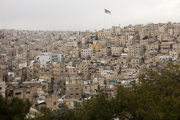 A View Of Amman, Jordan Print by Taylor S. Kennedy