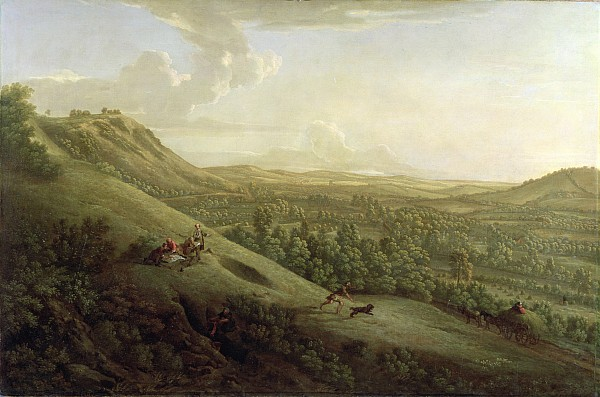 A View Of Boxhill - Surrey Print by George Lambert