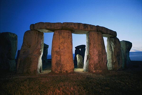 A View Of Stonehenge Silhouetted Print by Richard Nowitz