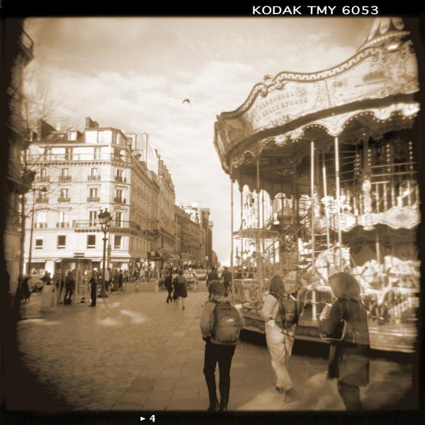 A Walk Through Paris 4 Print by Mike McGlothlen