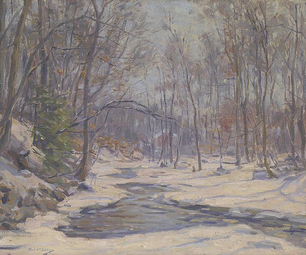A Winter Morning  Print by Frank Townsend Hutchens