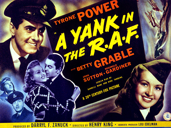 A Yank In The R.a.f., Tyrone Power Print by Everett