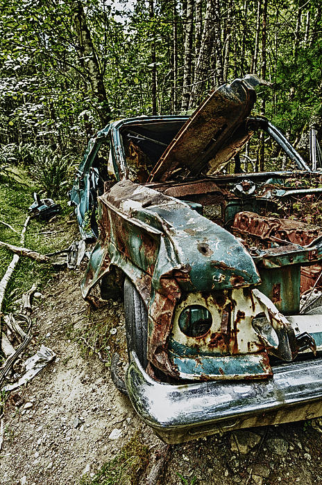 Abandon Car Print by Greg Horler
