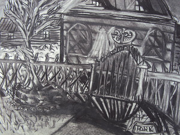 Abandoned House With Gate Print by Casey P