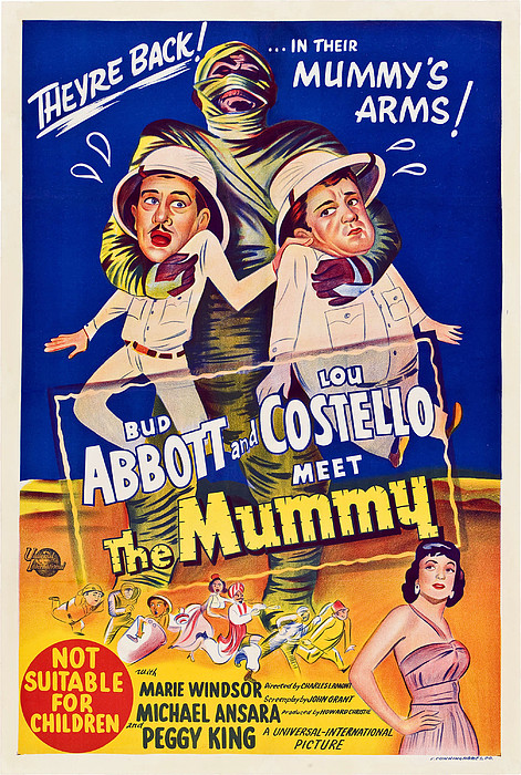 Abbott And Costello Meet The Mummy Print by Everett