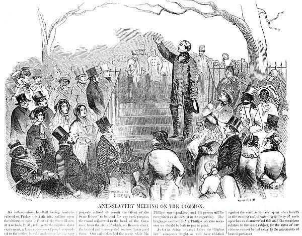 Abolition: Phillips, 1851 Print by Granger