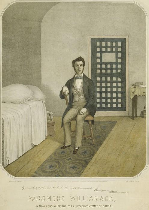 Abolitionist Passmore Williamson Print by Everett