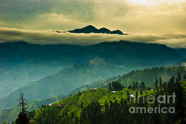 Above Clouds Print by Syed Aqueel