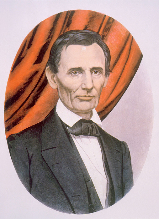 Abraham Lincoln 1809-1865, Lithograph Print by Everett