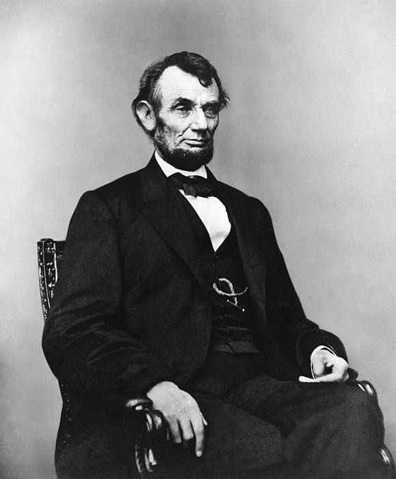 Abraham Lincoln Portrait - Used For The Five Dollar Bill - C 1864 Print by International  Images