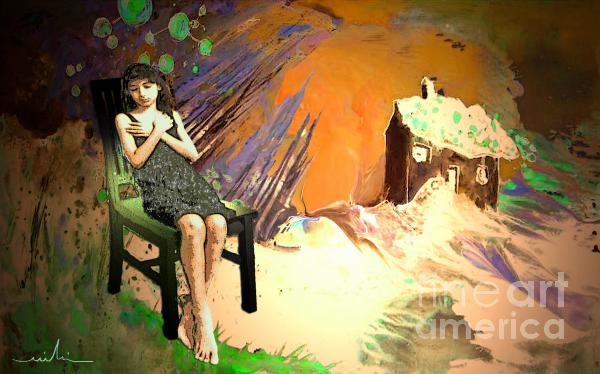 Absent Love Print by Miki De Goodaboom