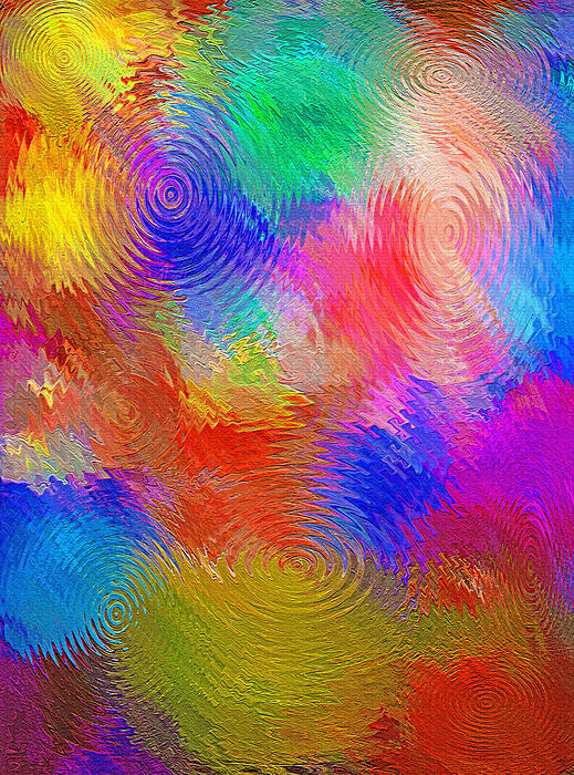 Abstract - Ripples Print by Steve Ohlsen