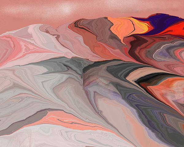 Abstract 012812abc Print by David Lane