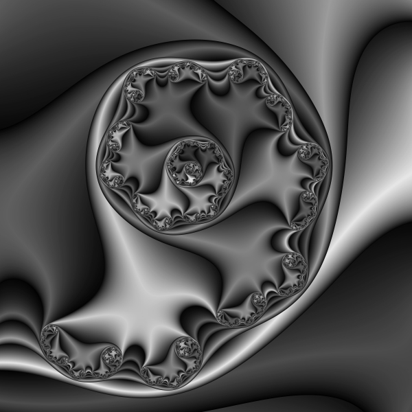 Abstract 169 Bw Print by Rolf Bertram