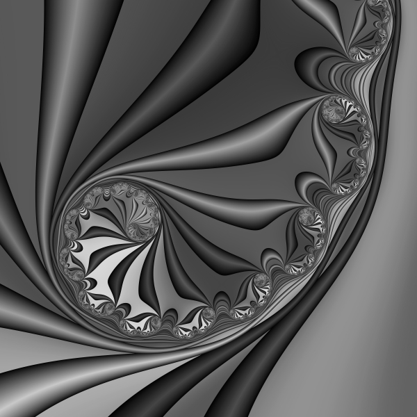 Abstract 209 Bw Print by Rolf Bertram