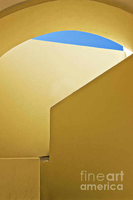 Abstract Architecture In Yellow Print by Meirion Matthias