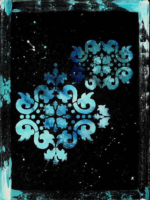 Abstract Art Original Decorative Painting Mysterious By Madart Print by Megan Duncanson