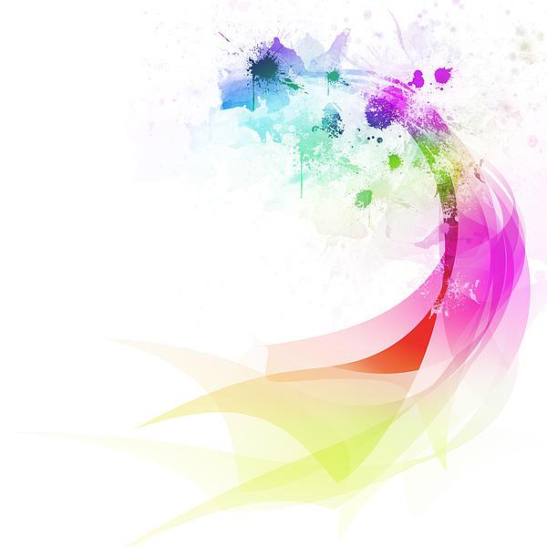 Abstract Colorful Curved Print by Setsiri Silapasuwanchai