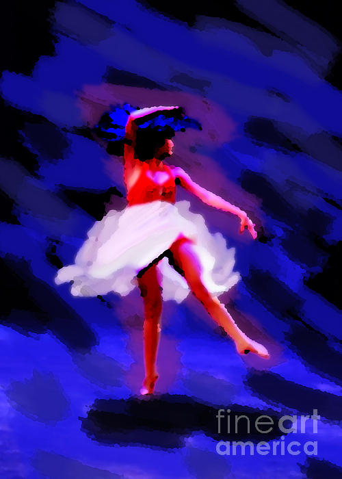 Abstract Dancer Print by Val Armstrong